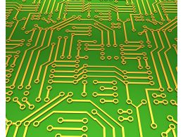 Green Circuit For Device Stock Photo