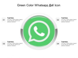 Green Color Whatsapp Call Icon