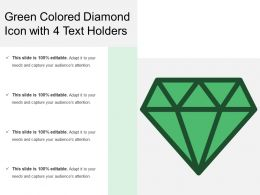 Green Colored Diamond Icon With 4 Text Holders