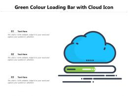 Green Colour Loading Bar With Cloud Icon