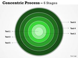 Green Concentric Business Diagram