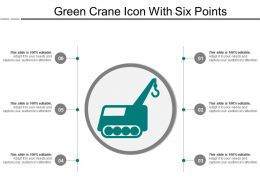 Green Crane Icon With Six Points
