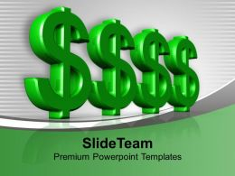 Green Dollar Symbols Finance Investment Powerpoint Templates Ppt Themes And Graphics 0113