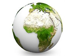 Green Earth Globe Graphic Stock Photo