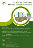 Green Energy Consulting Two Page Brochure Template
