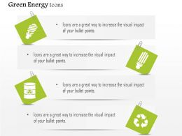Green Energy Icons Cfl Recycle And Waste Management Editable Icons