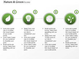 Green Energy Icons For Energy Production And Usage Editable Icons