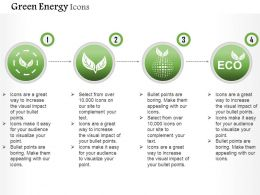 Green Energy Icons With Nature Protection And Ecology Editable Icons