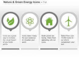 Green Energy Nuclear Plant House Windmill Ppt Icons Graphics
