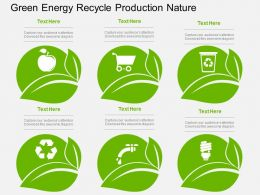 Green Energy Recycle Production Nature Flat Powerpoint Design
