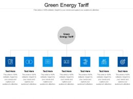 Green Energy Tariff Ppt Powerpoint Presentation File Example Cpb