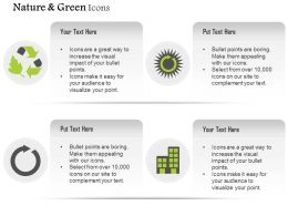 Green Enrgy Symbols With Text Boxes Editable Icons