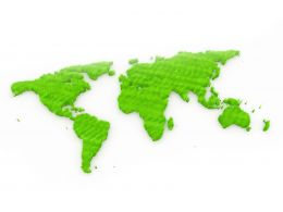 Green Environment Map On White Background Stock Photo