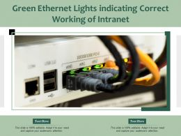 Green Ethernet Lights Indicating Correct Working Of Intranet