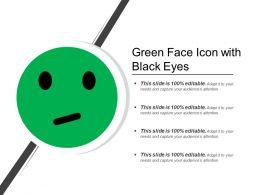 Green Face Icon With Black Eyes