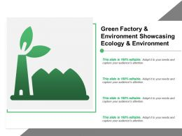 Green Factory And Environment Showcasing Ecology And Environment