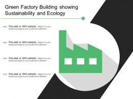 Green Factory Building Showing Sustainability And Ecology