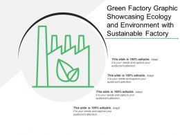 Green Factory Graphic Showcasing Ecology And Environment With Sustainable Factory