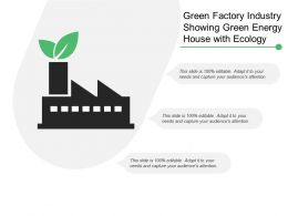 Green Factory Industry Showing Green Energy House With Ecology