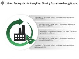 Green Factory Manufacturing Plant Showing Sustainable Energy House