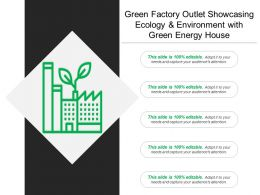 Green Factory Outlet Showcasing Ecology And Environment With Green Energy House
