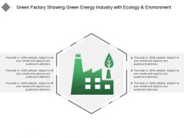 Green Factory Showing Green Energy Industry With Ecology And Environment