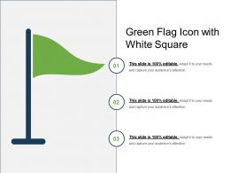 Green Flag Icon With White Square