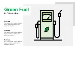 Green Fuel In Oil And Gas