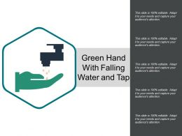Green Hand With Falling Water And Tap