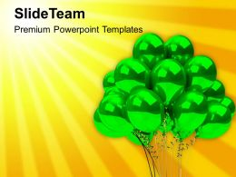 Green Helium Balloons Birthday Powerpoint Templates Ppt Themes And Graphics 0113