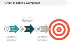 Green Initiatives Companies Ppt Powerpoint Presentation Ideas Vector Cpb