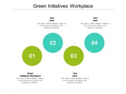 Green Initiatives Workplace Ppt Powerpoint Presentation Styles Background Images Cpb