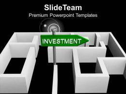 Green Investment Board In Labyrinth PowerPoint Templates PPT Themes And Graphics 0213