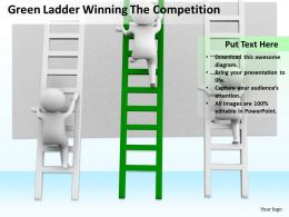 Green Ladder Winning The Competition Ppt Graphics Icons Powerpoint