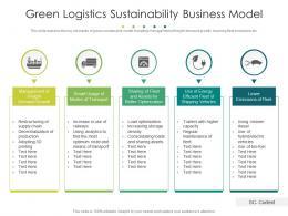 Green Logistics Sustainability Business Model
