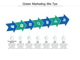 Green Marketing Mix 7ps Ppt Powerpoint Presentation Layouts Picture Cpb