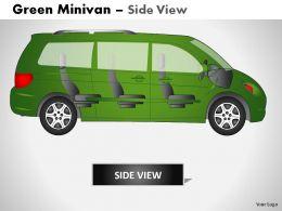 green_minivan_side_view_powerpoint_presentation_slides_Slide02