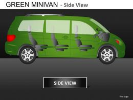 Green Minivan Side View Powerpoint Presentation Slides DB