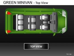 Green Minivan Top View Powerpoint Presentation Slides DB
