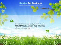 Green Nature Effect Background And Sky For Business Quotes Powerpoint Slides