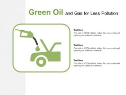 Green Oil And Gas For Less Pollution