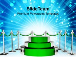 Green Podium For Winner Competition Powerpoint Templates Ppt Themes And Graphics