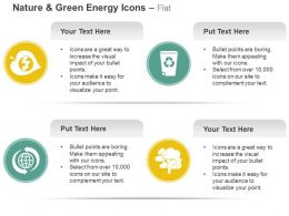 Green Power Garbage Recycle Global Environment Tree Ppt Icons Graphics