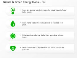 Green Power Source Hydro Power Solar Energy Recycling Ppt Icons Graphics