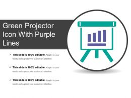Green Projector Icon With Purple Lines