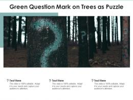 Green Question Mark On Trees As Puzzle