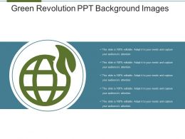 Green Revolution Ppt Background Images