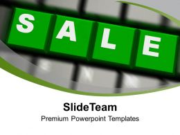Green Sale Word On Keyboard PowerPoint Templates PPT Themes And Graphics 0213
