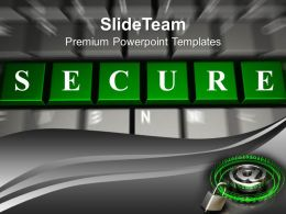 green_secure_word_on_keyboard_powerpoint_templates_ppt_themes_and_graphics_0213_Slide01