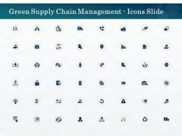 Green Supply Chain Management Icons Slide Ppt Powerpoint Presentation Icon Design Inspiration